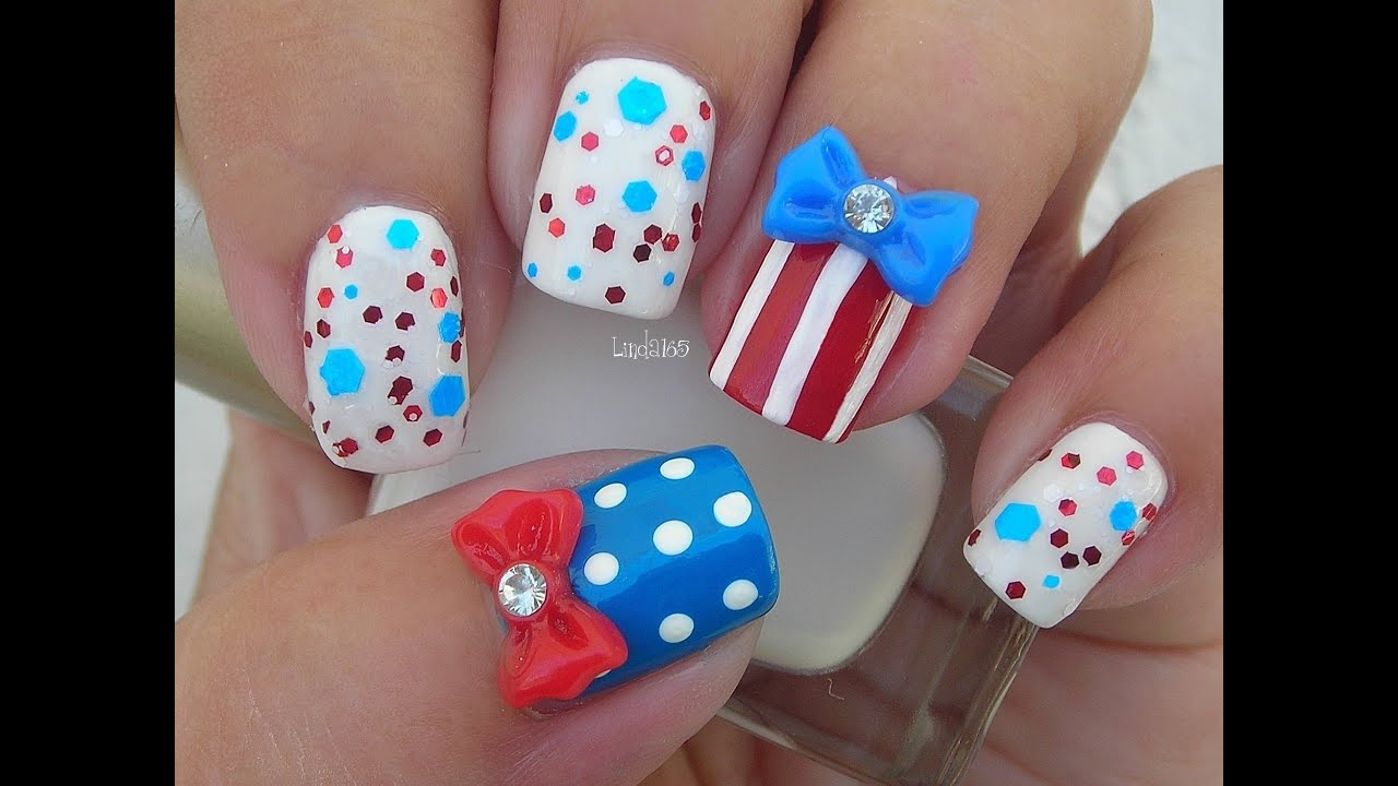 Nail Art Fourth Of July Inspired Nails Cuatro De Julio