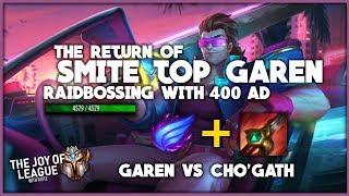 SMITE TOP with Garen! 4.5k HP with 400 AD! | CHALLENGER GAREN vs Cho'Gath | League of Legends