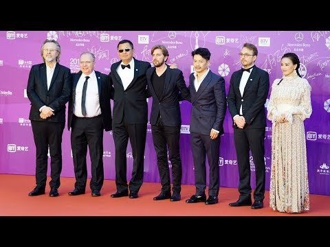 Filmmakers gracing at red carpet on 8th Beijing International Film Festival closing ceremony