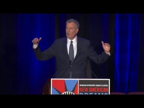 Mayor de Blasio Makes Announcement at National Immigration Integration Conference
