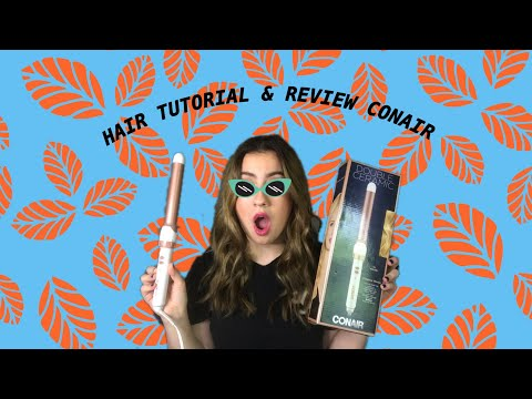 Hair Tutorial & Review CONAIR DOUBLE CERAMIC 1 INCH Beachy waves