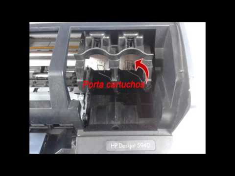 Partes de una impresora de inyección de tinta