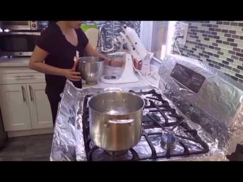Bún tươi làm tại nhà - New York / How to make rice vermicelli
