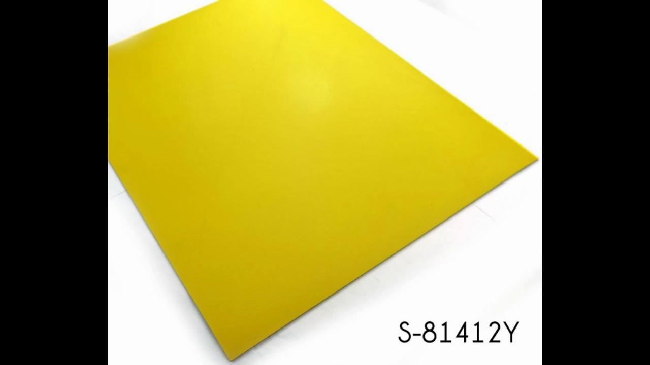 Clic Lemon Yellow Solid Color Pvc Vinyl Floor Tile Suppliers