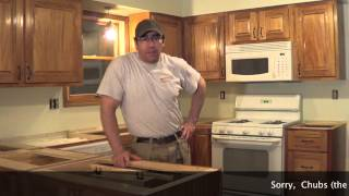 Building Kitchen Cabinets Part 21.  The Install