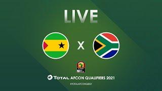 LIVE: São Tomé and Príncipe vs South Africa - Total AFCON Qualifiers 2021   Group C   Round 4