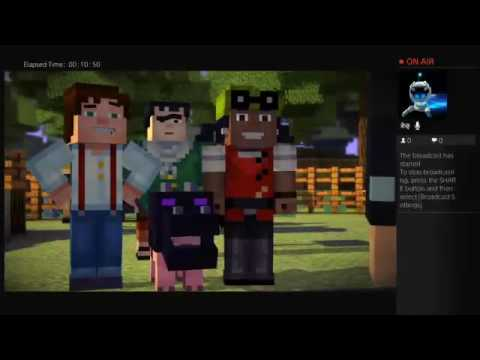 Playing minecraft story mode!!!!!!!