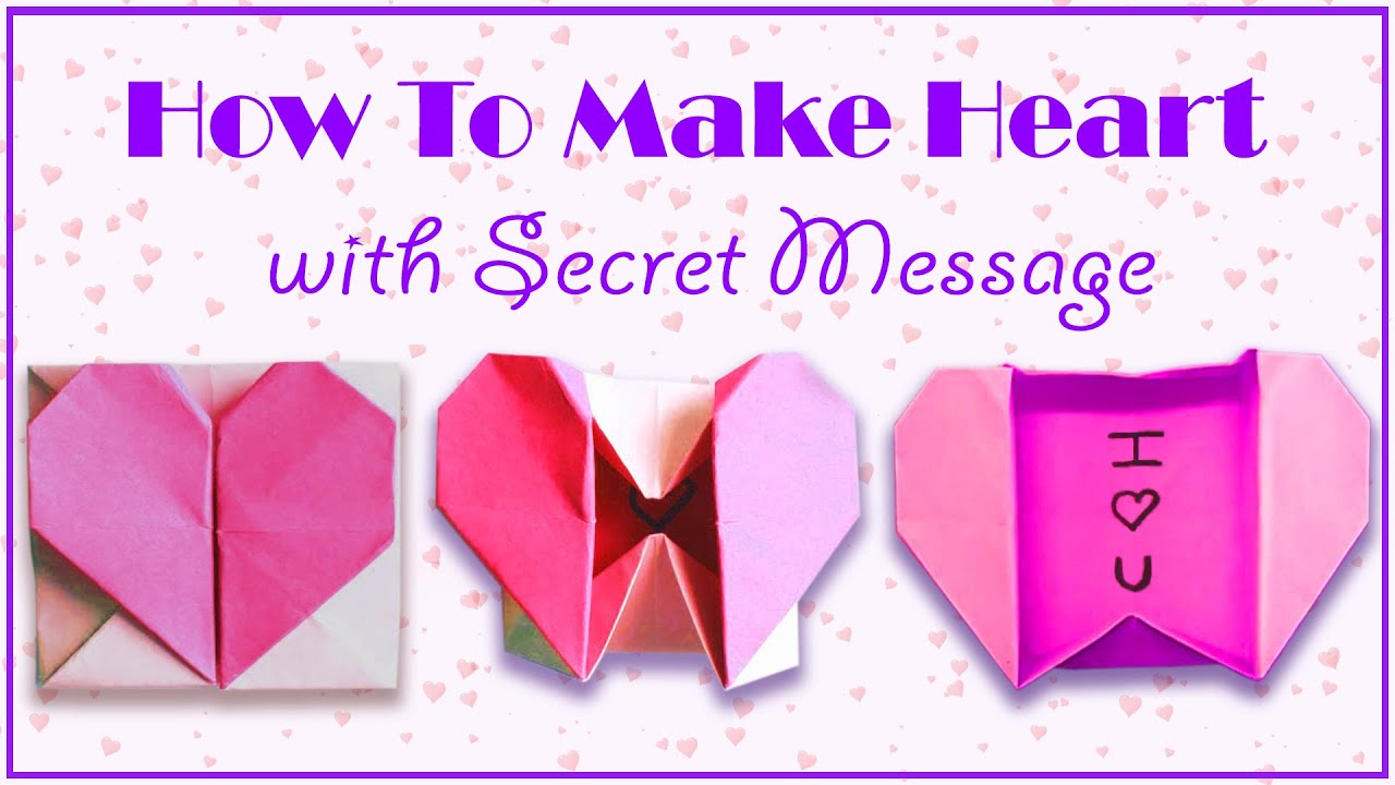 origami heart box with love message diy crafts ning