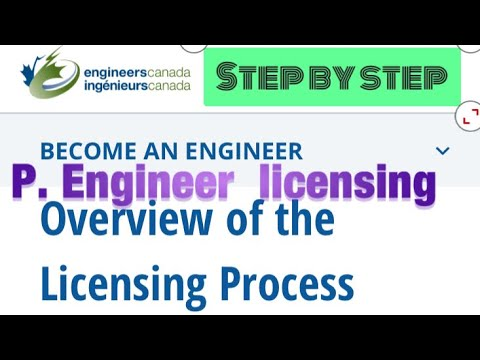 How to apply professional engineering license in Ontario Canada