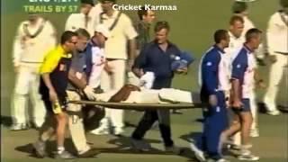Cricket - Brett Lee Smashes Alex Tudor