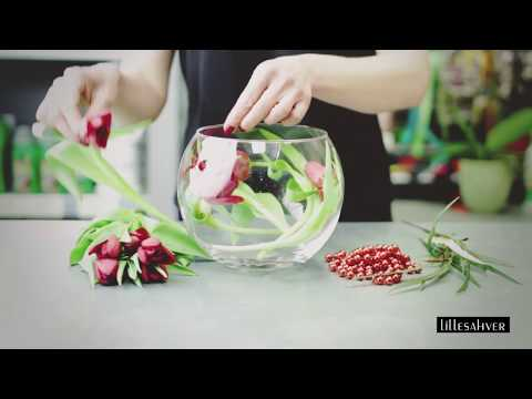 How To: Make A  Flower Arrangement Using A Fishbowl And Tulips