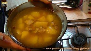 Картошка по домашнему со свиными рёбрышками