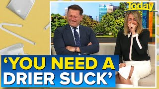Questionable paper straw joke leaves Karl and Leila in stitches   Today Show Australia