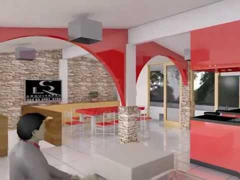 Dise o de casa habitacion 3d en archicad 18 youtube for Diseno de casa habitacion