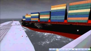 Ship Simulator 2008 - Bulk Carrier and Cargo Ship Collide ( Incredible Damage )