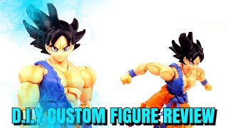 HOW TO D.I.Y DRAGONBALL SUPER ULTRA INSTINCT GOKU CUSTOM FIGURE STEP BY STEP REVIEW