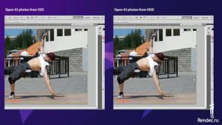 SSD Applications tests -- Adobe Photoshop CS5