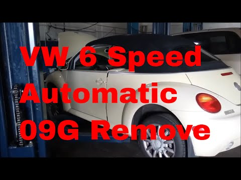 VW beetle how to remove transmission transaxle 09G