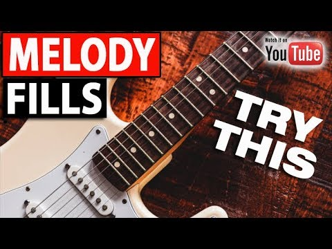 Melody Line Fills Around Any Chord (3 RIFFS w/TAB)