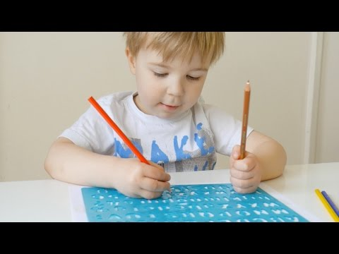 Simple Activity For Preschoolers With Stencils