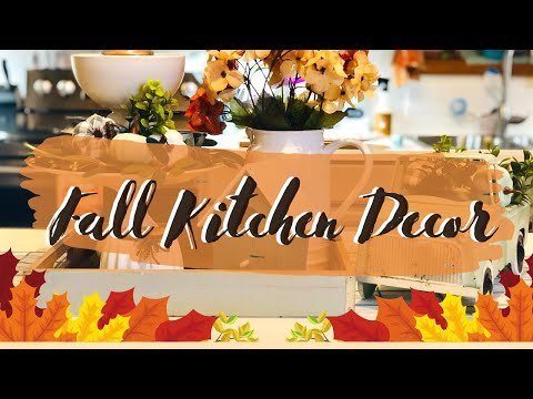 🍁FALL KITCHEN DECORATE WITH ME | FALL KITCHEN DECOR | FALL KITCHEN DECORATING IDEAS🍁