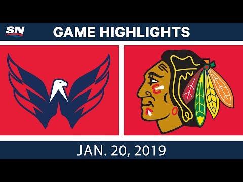 NHL Highlights   Capitals vs. Blackhawks - Jan. 20, 2019