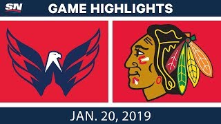 NHL Highlights | Capitals vs. Blackhawks - Jan. 20, 2019