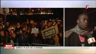 France 2 - journal du 11 janvier 2015 - Marche Républicaine
