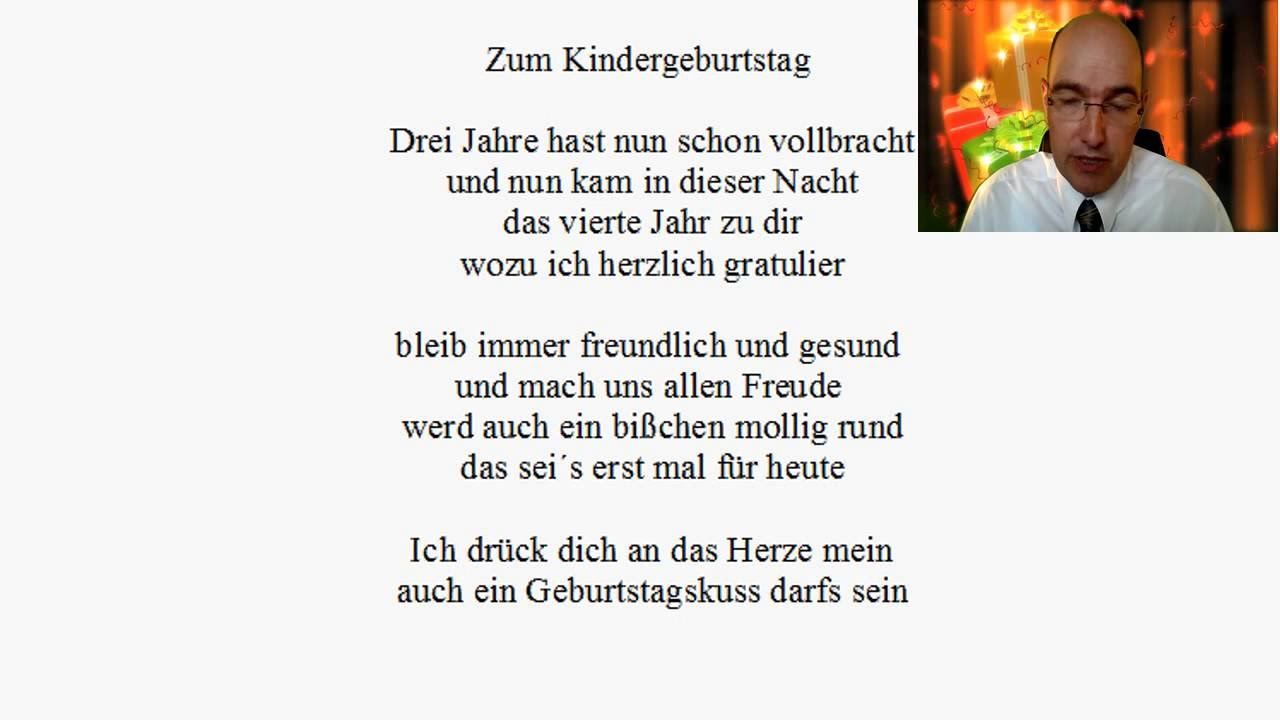 gedicht zum 4 kindergeburtstag youtube. Black Bedroom Furniture Sets. Home Design Ideas