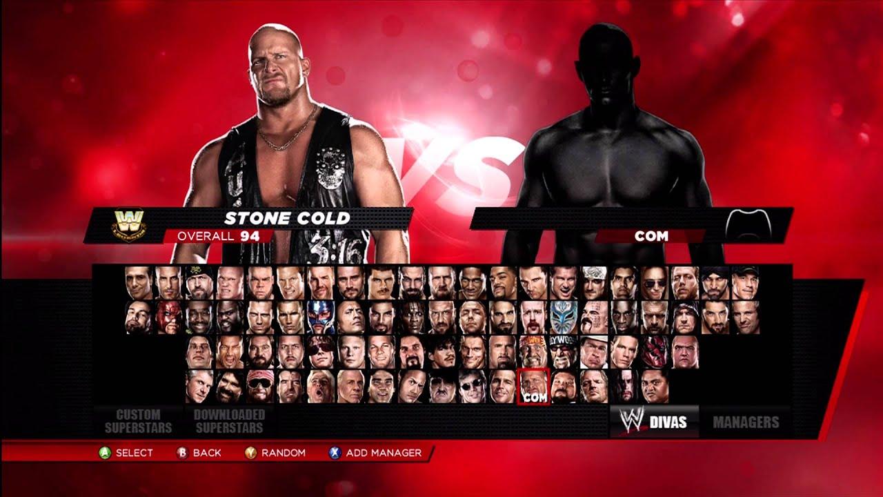 WWE 2K14 ALL SECRET LOCKED CHARACTERS UNLOCKED YouTube