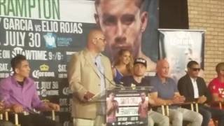 LEO SANTA CRUZ v CARL FRAMPTON - WBA SUPER WORLD FEATHERWEIGHT TITLE- PRESS CONFERENCE (NEW YORK)