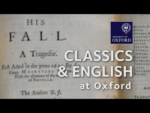 Classics and English at Oxford University