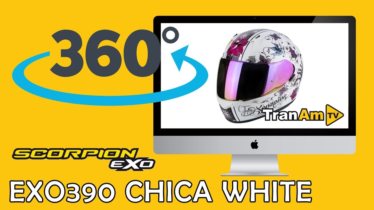 Casco integrale moto Scorpion EXO-390 chica