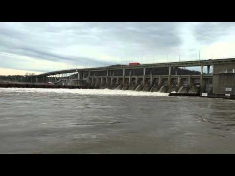 Downtown Chattanooga, Tennessee and The Chickamauga Dam