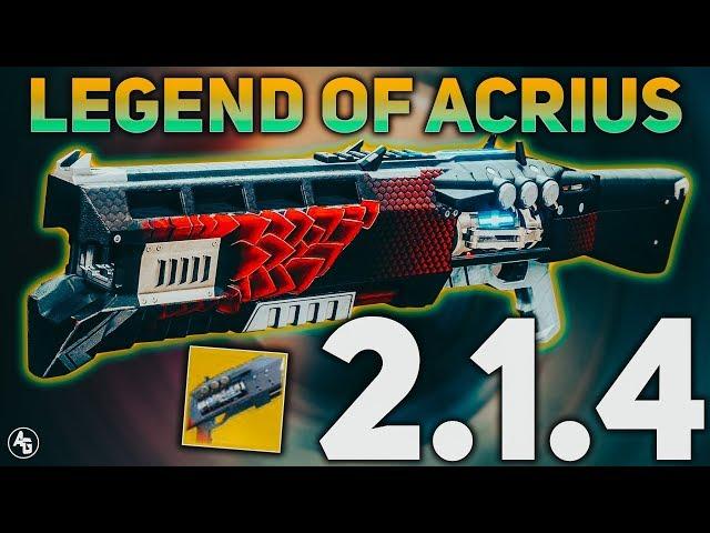 Destiny 2 Legend Of Acrius Catalyst Drop Rate Legend Of Acrius Buff Best Dps Shotgun Now Destiny 2 Sandbox