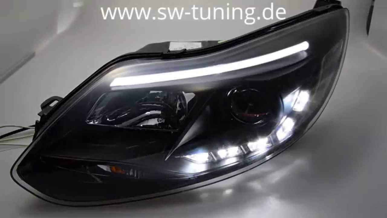 swdrltube scheinwerfer focus mk3 11 14 led tfl r87 black. Black Bedroom Furniture Sets. Home Design Ideas