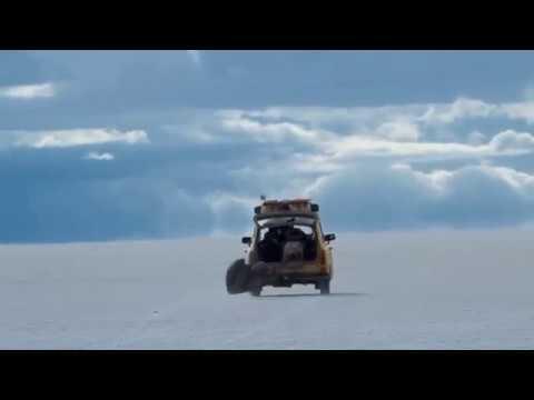 Trabant land speed record on salt flats!