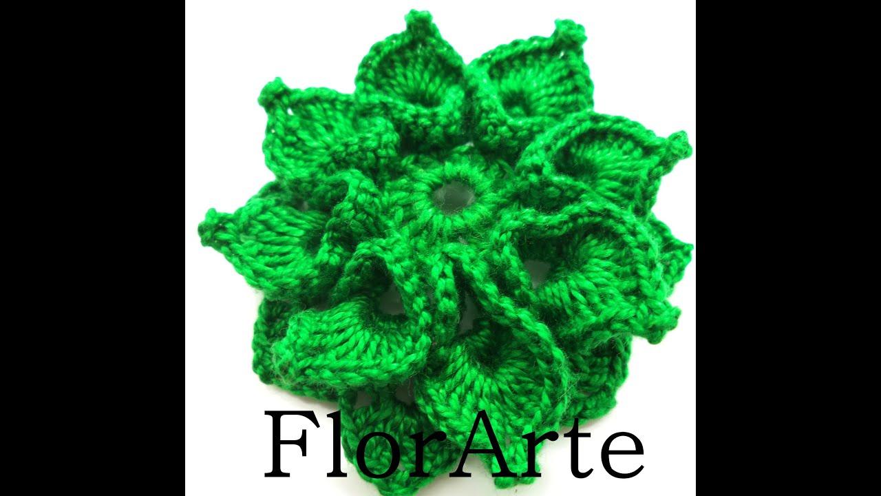 Flor de croch? - YouTube