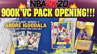 900K VC ANDRE IGUODALA SPOTLIGHT PACK OPENING! PINK DIAMOND ALLEN IVERSON IN NBA 2K20 MYTEAM