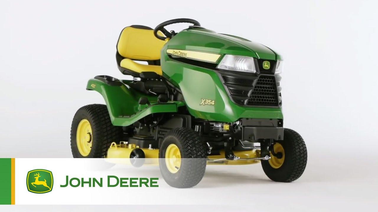 tracteur de jardin john deere x354 youtube. Black Bedroom Furniture Sets. Home Design Ideas