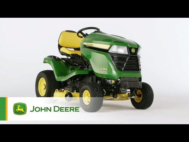Tracteur de jardin John Deere X354