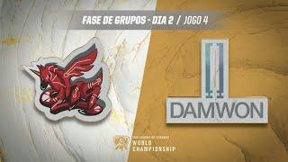 Mundial 2019: Fase de Grupos - Dia 2 | ahq eSports Club x DAMWON Gaming (Jogo 4)