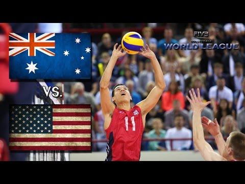 USA vs Australia (Match 2) - 2016 World League - ALL ACTION NO BREAKS