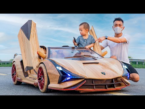 65 Days Build Lamborghini Sian Roadster For My Son – ND Woodworking Art