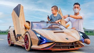 65 Days Build Lamborghini Sian Roadster For My Son - ND Woodworking Art