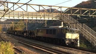 2020/11/17 【警笛あり】ホキ800形廃車回送。EF64 1030に牽引され長野総合車両センターへ。