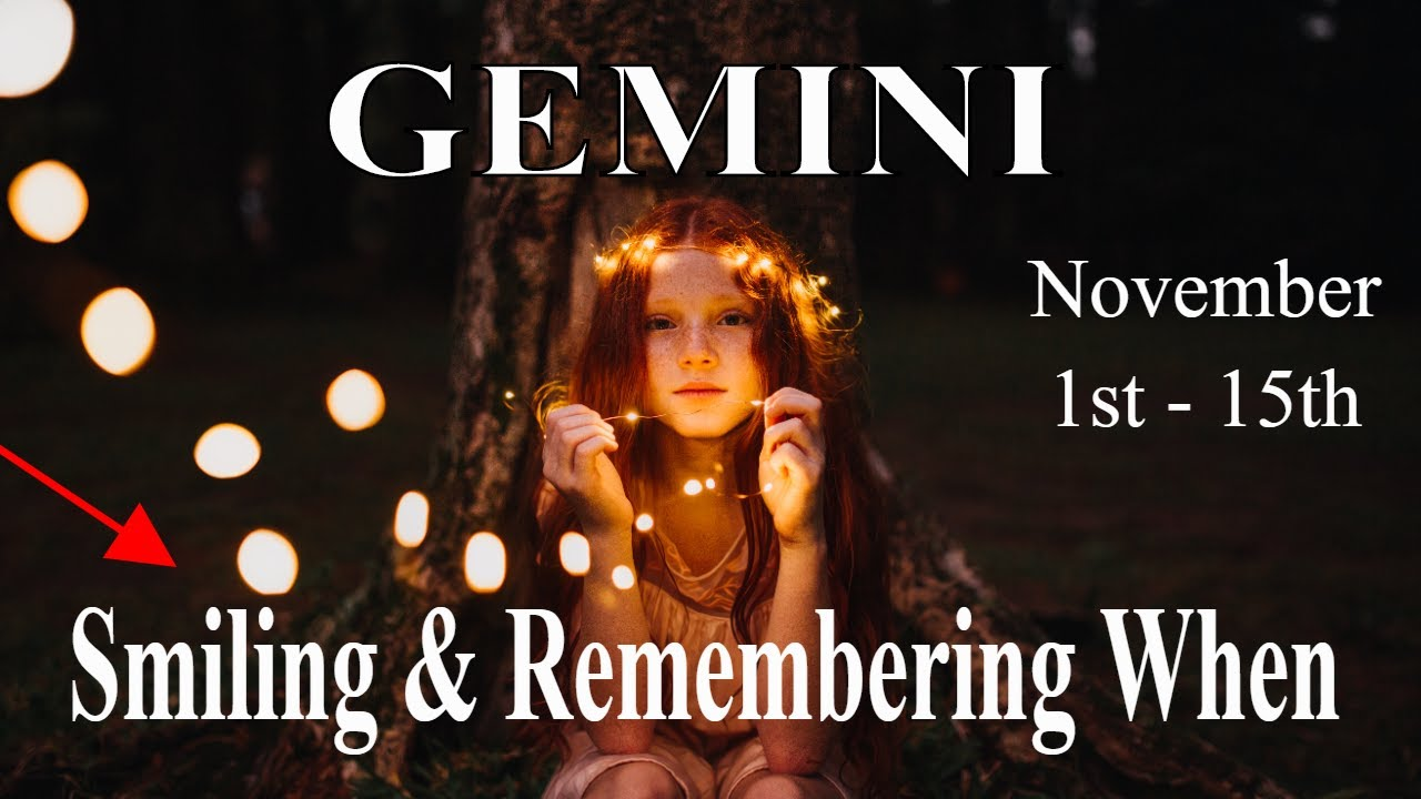 Gemini ~ Remembering When, Put a Candle in the Window ~ Psychic Tarot Reading November (1st - 15th)