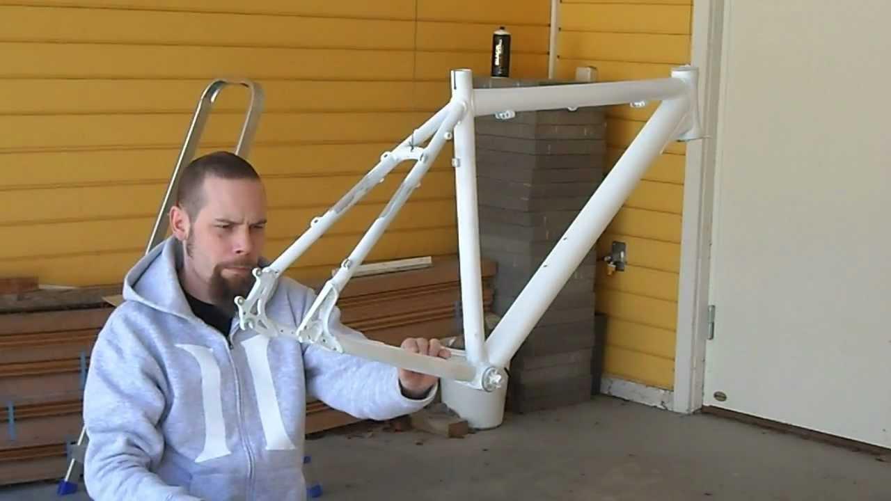 bike frame repaint pt 2 applying decals
