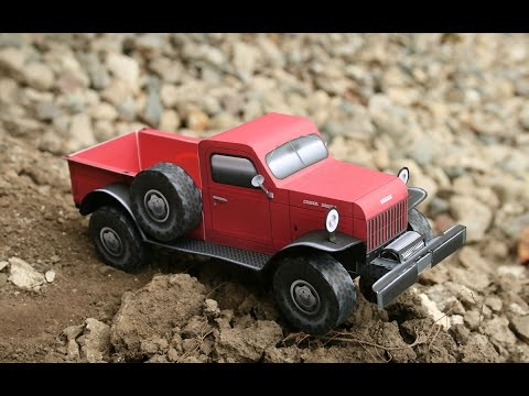 Building the Dodge Power Wagon paper model