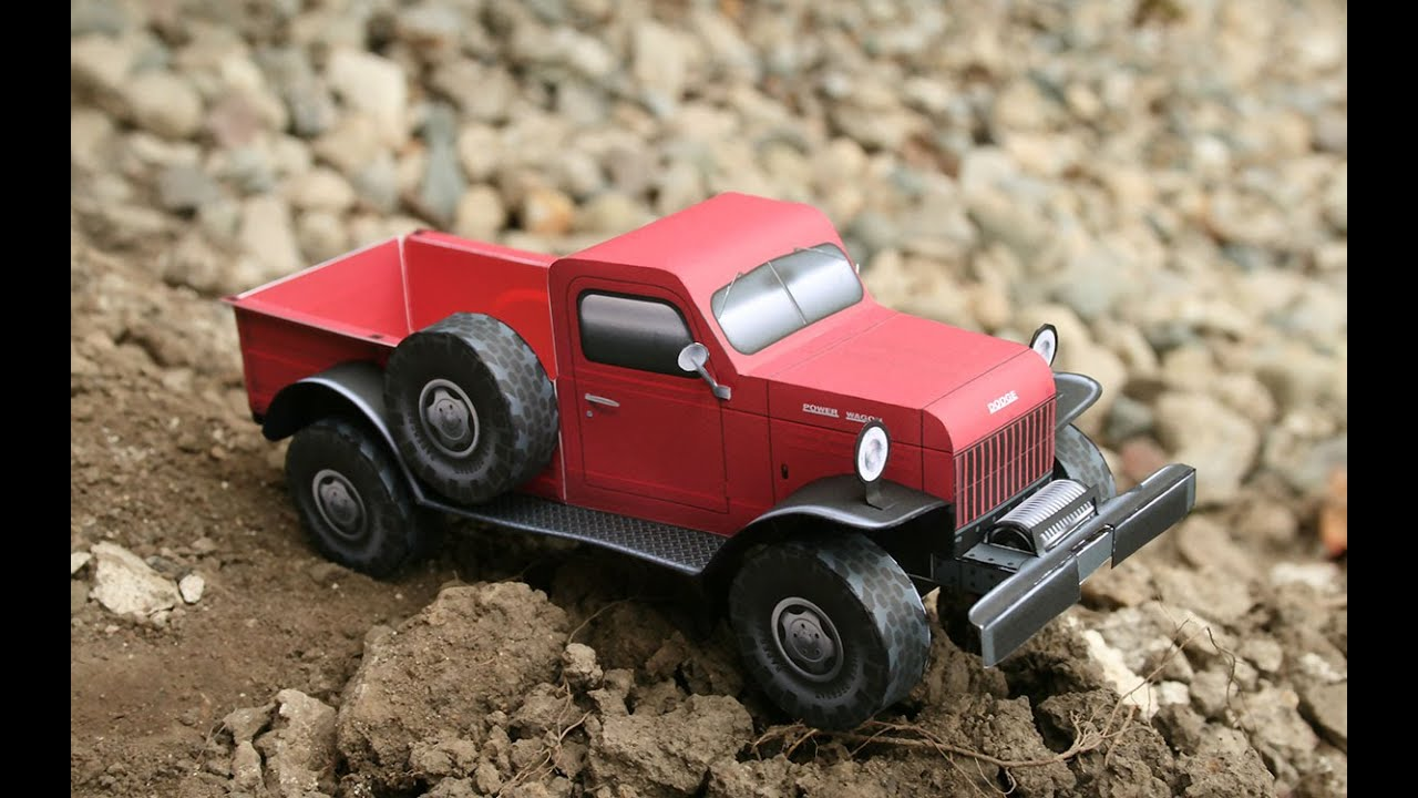 Papercraft Building the Dodge Power Wagon paper model